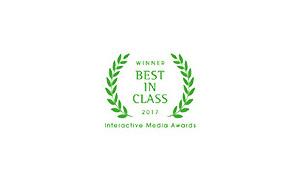 Interactive Media Awards New York Winner Outstanding Achievement 2013 Best in Class 2017