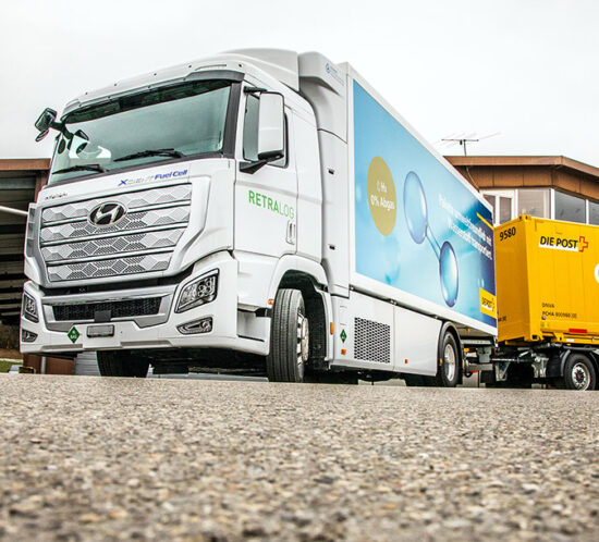 Wasserstoff-LKW Retralog Schweizer Post